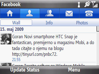Facebook aplikacija za Windows Mobile platformu