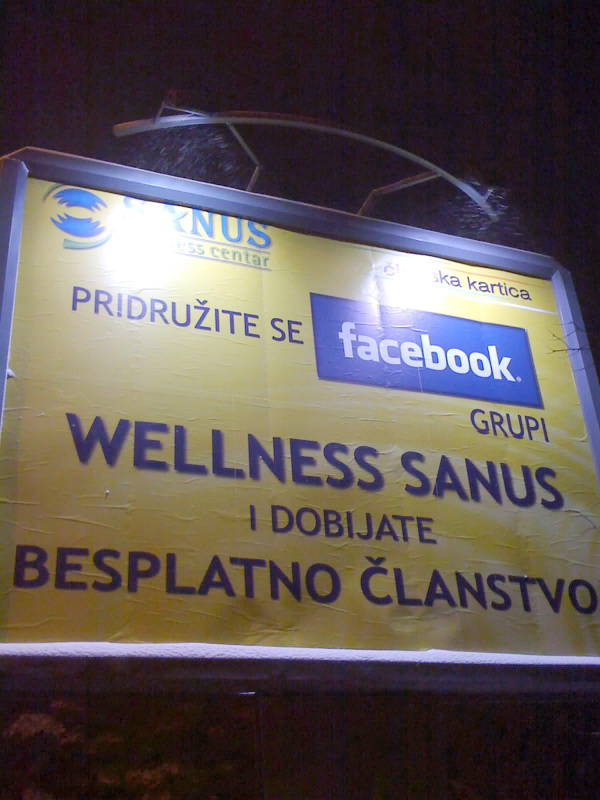 Preko Facebooka do besplatnog Wellnessa