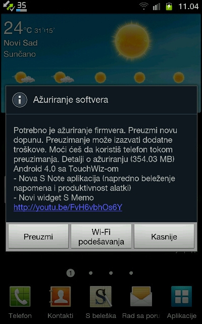 Telenor emitovao Android 4.0.4 ICS nadogradnju za Samsung Galaxy Note
