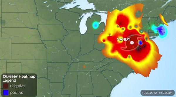 Uragan Sandy kroz Twitter infografiku