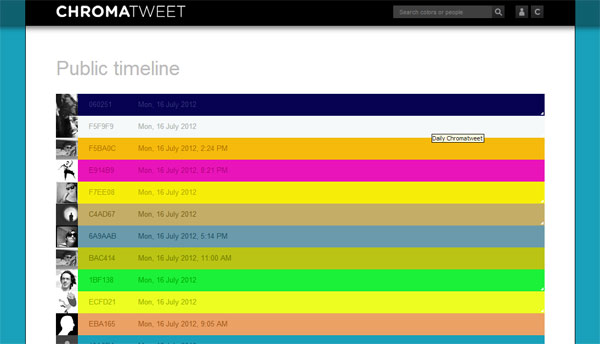 ChromaTweet – kolorna društvena mreža