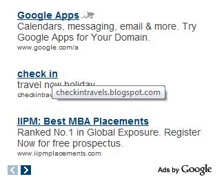 Google Adsense reklame prikazuju URL oglašivača u oblačiću