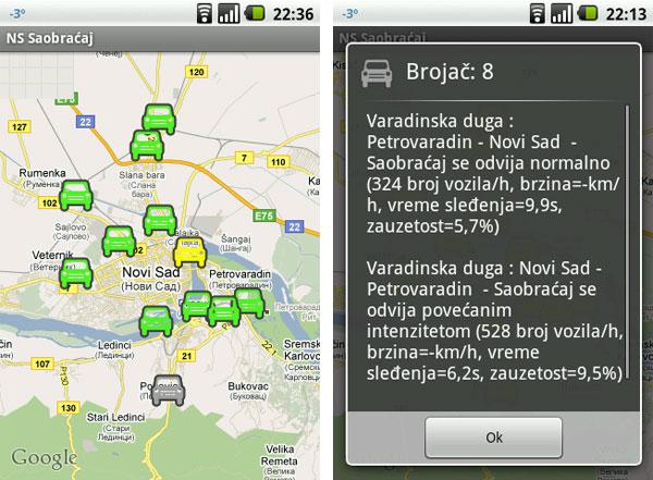 Android aplikacija za praćenje saobraćajnih gužvi u gradu