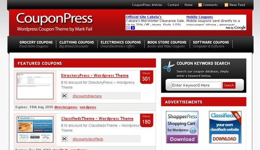 CouponPress – besplatna WordPress tema za kuponski sajt
