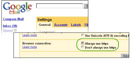 Sigurnija Gmail prepiska putem https protokola