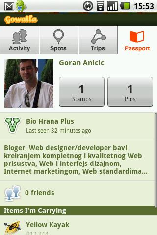 Gowalla radi na Androidu