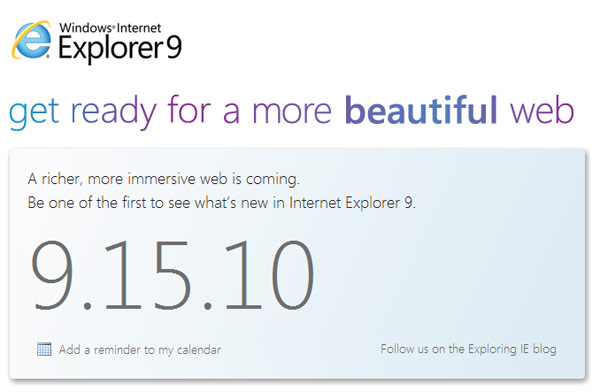 Internet Explorer 9 i lepota Weba