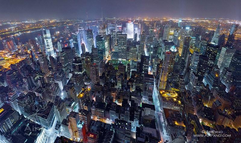 New York u 360° aerofoto-panorami