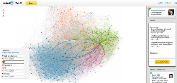 LinkedIn InMaps mapira vašu profesionalnu mrežu