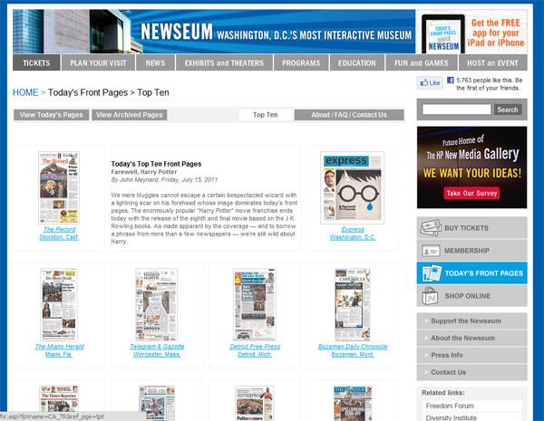 Newseum: sve naslovnice sveta