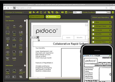 Pidoco – sjajna wireframe i GUI prototyping alatka