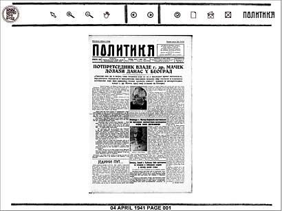 Digitalna arhiva Politike dostupna online