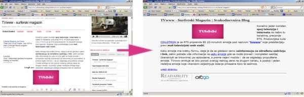 """Readability za fokusirano """"čitanje Weba"""""""