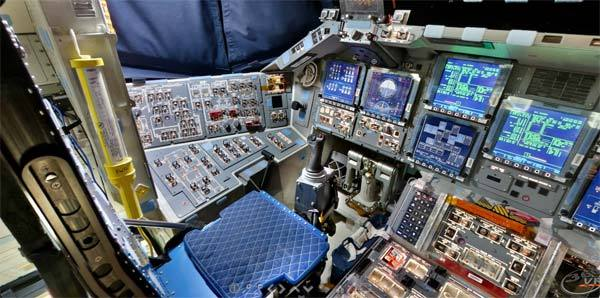 Space Shuttle unutrašnjost sa pogledom od 360 stepeni