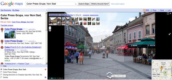 Google Street View radi u Srbiji