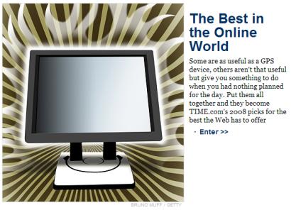 Najbolje web lokacije za 2008 godinu po Time magazinu