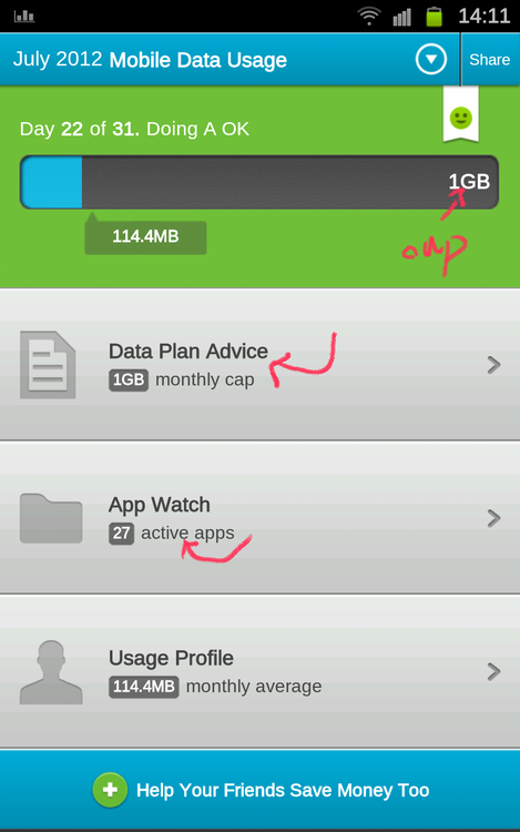 Onavo Count – Android merač utroška mobilnog Interneta