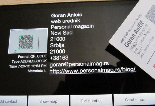 Iskoristite QR kod na vizitkama i drugim mestima