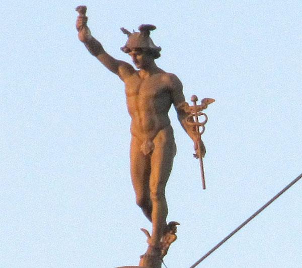 Merkur iznad Novog Sada