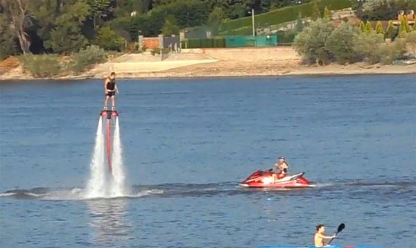 Flyboard na novosadskom Štrandu