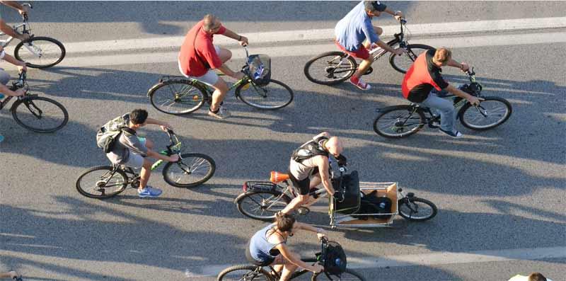 """65. Biciklistička vožnja novosadske """"Kritične mase"""""""